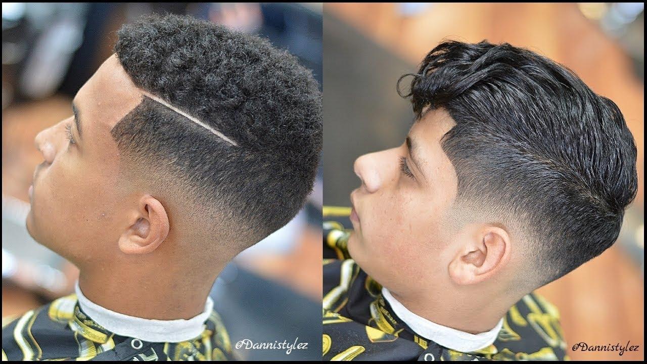 Corte de cabello desvanecido con maquina