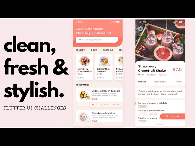 FlutterUI - Clean designs - Cakes and pastries