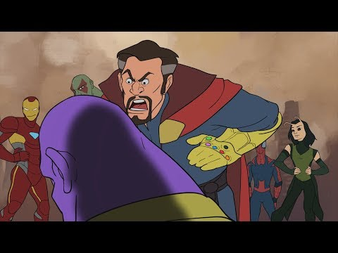 Thanos Vs Avengers - Avengers Infinity War Parody Animation - MOVIE SHENANIGANS