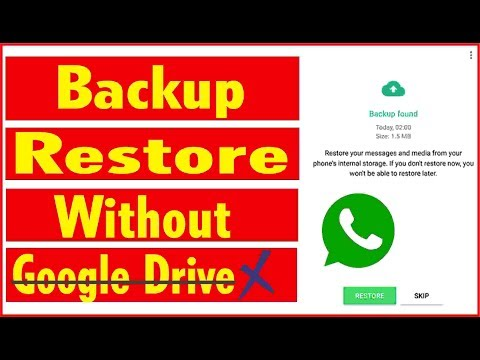 How To Restore Whatsapp Messages Without Backup On Google Drive | Restore Whatsapp Messages 100%