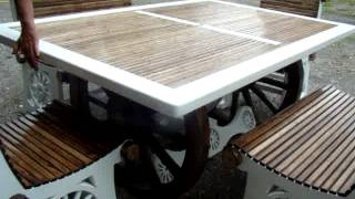 Solid Wood Outdoor Patio Set Or Indoor Dining Room