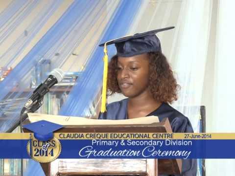 Claudia Creque Educational Centre Graduation 2014