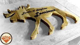 Moose Pallet Silhouette (camper Sign) - Jackman Carpentry