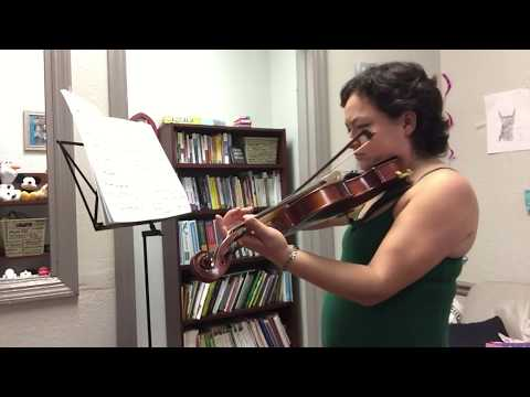1/10 - Me Playing Violin for My Therapist - Brandenburg Concerto 3-1 - by Bach