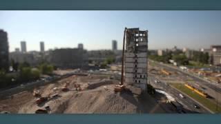 Wyburzanie budynku IPN w Warszawie - dzień 1, 2, 3