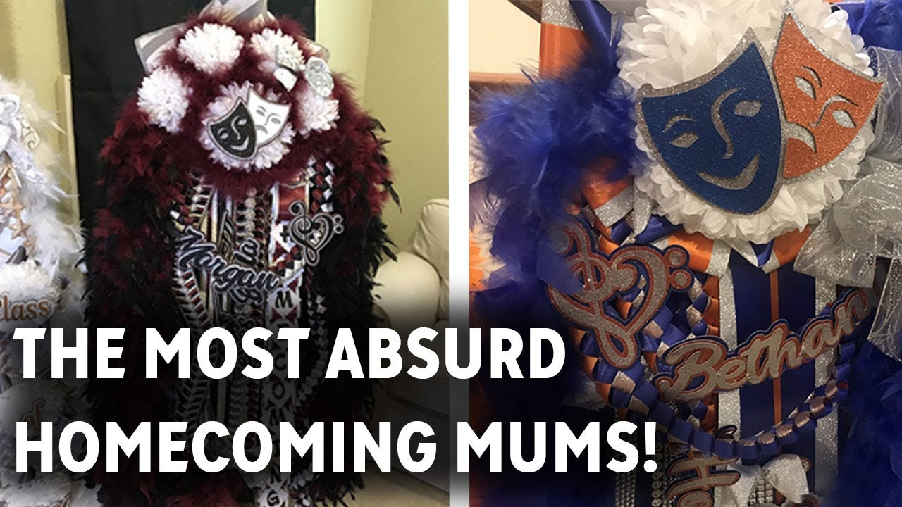 These Homecoming Mums Are As Big As Texas Youtube