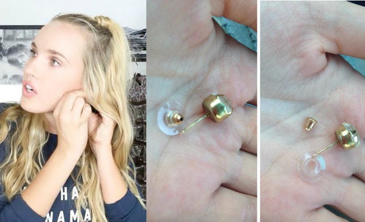 how to put on earring backs