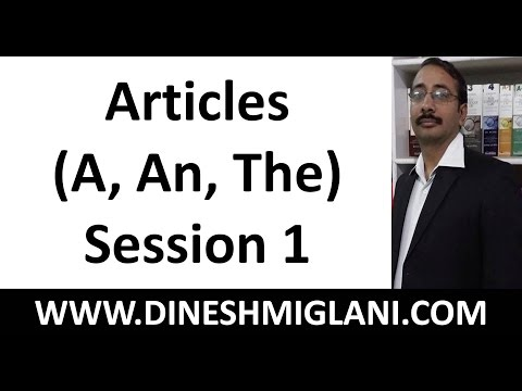 Best Articles ( A, An, The) English Grammar Rules and Concept  Session 1