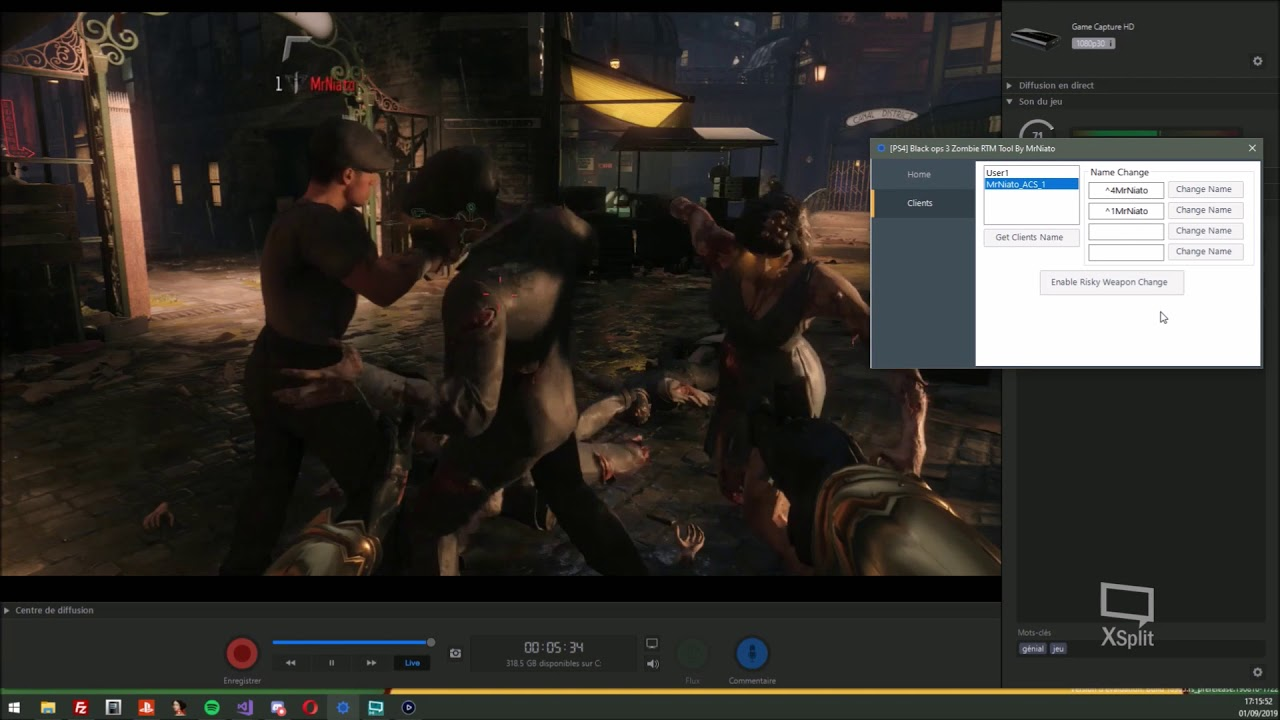 All Clients Black Ops 3 (BO3) Zombie PS4 RTM Tool by MrNiato