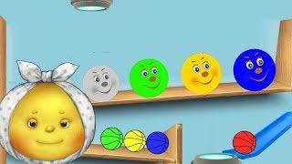 Колобок Kolobok Симбирская сказка для детей - учим цвета