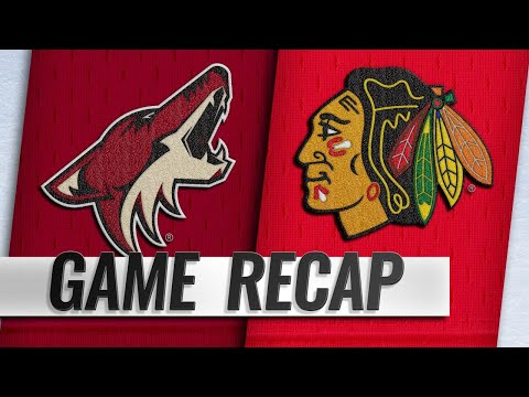 Perlini's first hat trick powers Hawks past Coyotes