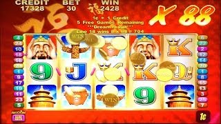 Aristocrat's Lucky 88 slot machine - 2 Bonus rounds with X88 Wilds, Nice Win
