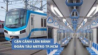 Cận cảnh lăn bánh của đoàn tàu metro đầu tiên của TP.HCM