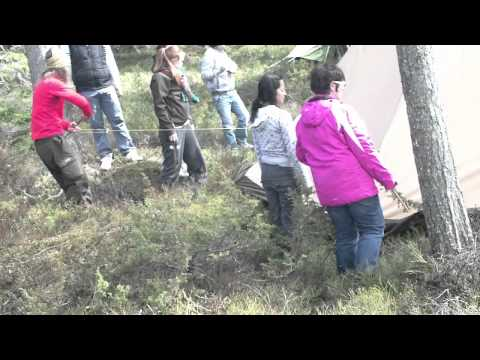 Camping for Nature and advanture tourism course in Finland