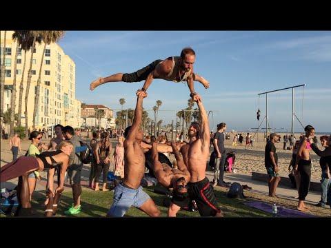 Fun People at Original Muscle Beach ~ Santa Monica