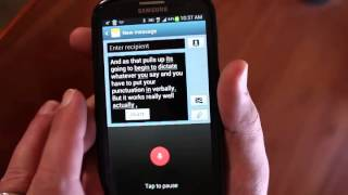 Dictation on Android using Google Voice Keyboard
