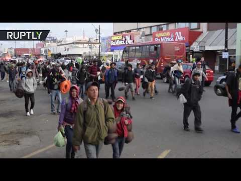 The final push: Migrant caravan leaves Mexicali and heads for Tijuana
