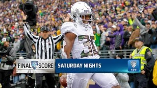 Highlights: No. 12 Oregon football comes from 14 points down to defeat No. 25 Washington