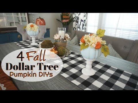 DOLLAR TREE FALL DIYS| EASY FALL PUMPKIN DIYS| Megan Navarro