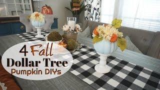 DOLLAR TREE FALL DIYS  EASY FALL PUMPKIN DIYS  Megan Navarro