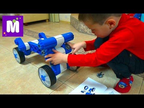 Самокат конструктор Мультикар собираем машинку и робота и катаемся Mulyicar Kiditec unboxing set