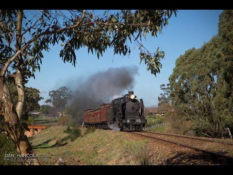Australian Steam Trains: K153 hauls the Veteran XYZ Set on the Colonial Express - 14.05.2016