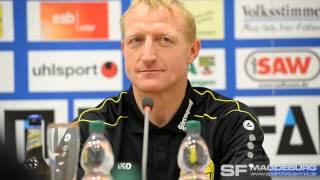 Pressekonferenz - 1. FC Magdeburg gegen VFC Plauen 5:0 (2:0) - www.sportfotos-md.de