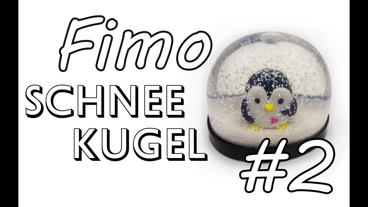 Fimo Schneekugel #2 | DIY Geschenk Ideen #07 | Weihnachts-Serie 2014 ...
