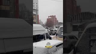 Новосибирск. Неудачная парковка.
