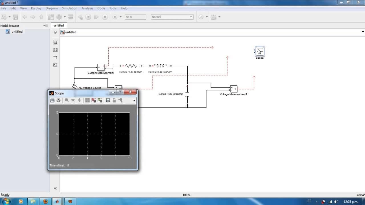 Circuito Rl : Tutorial como montar un circuito rlc en simulink youtube