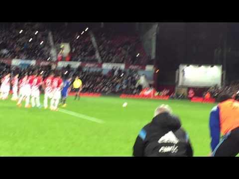 Lionel Messi penalty vs Croatia - November 12 2014 @ Boleyn Ground