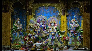 Sringar Arati Darshan Sri Sri Radha Rasbihari Temple 15th Jan 2018 Live from ISKCON Juhu, Mumbai