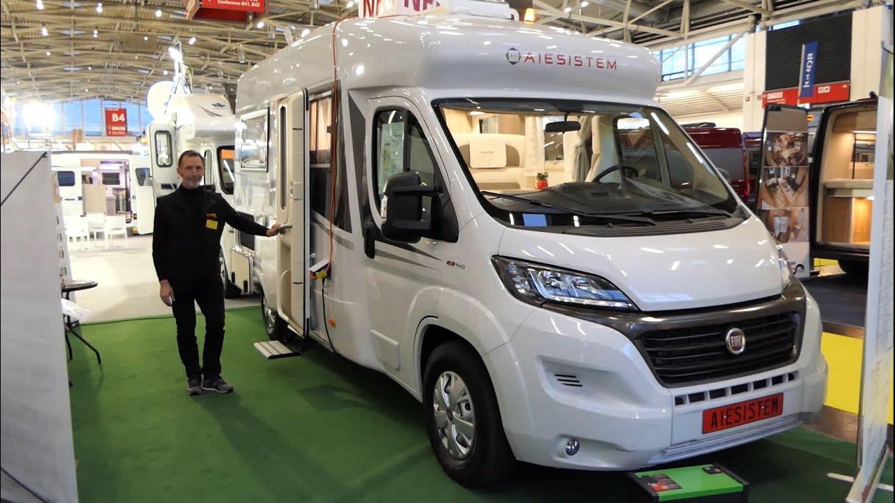 8-Meter-Monocoque-Camper/Wohnmobil 800FB von AIESISTEM bei VCFC auf Messe  f.re.e - 8,8 Tonnen leicht