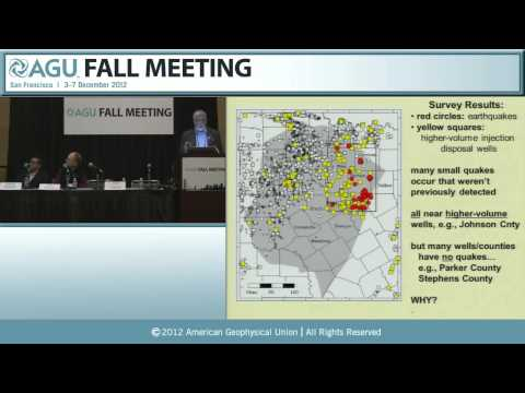 AGU 2012 Fall Meeting: Natural or man-made? Triggers and limits to induced earthquakes