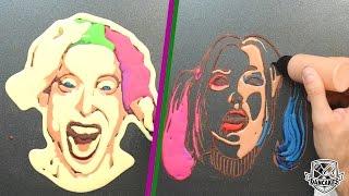 The Joker and Harley Quinn Pancake Art