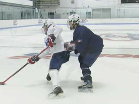 USA Hockey Skills and Drills - Puck Protection Sequence: Small Area