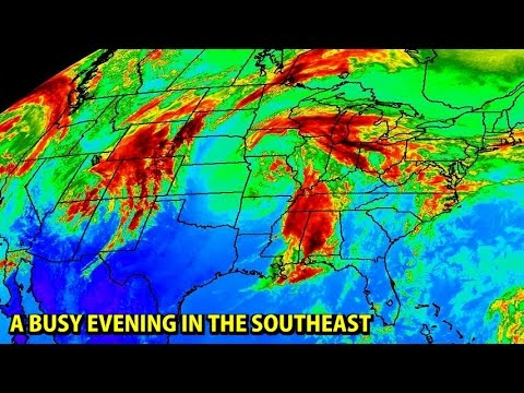 NIGHTLY WEATHERCAST -  3/25/2017 - Storms move through the Gulf Coast region