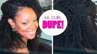Best 4A Natural Hair Wig I've Found! | BorderHammer