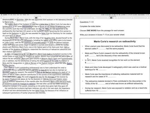 Reading test 4, IELTS book 9 – Step-by-step answers - YouTube