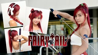 Erza Scarlet Hair Tutorial l Fairy Tail Erza Cosplay l Anime Hairstyles