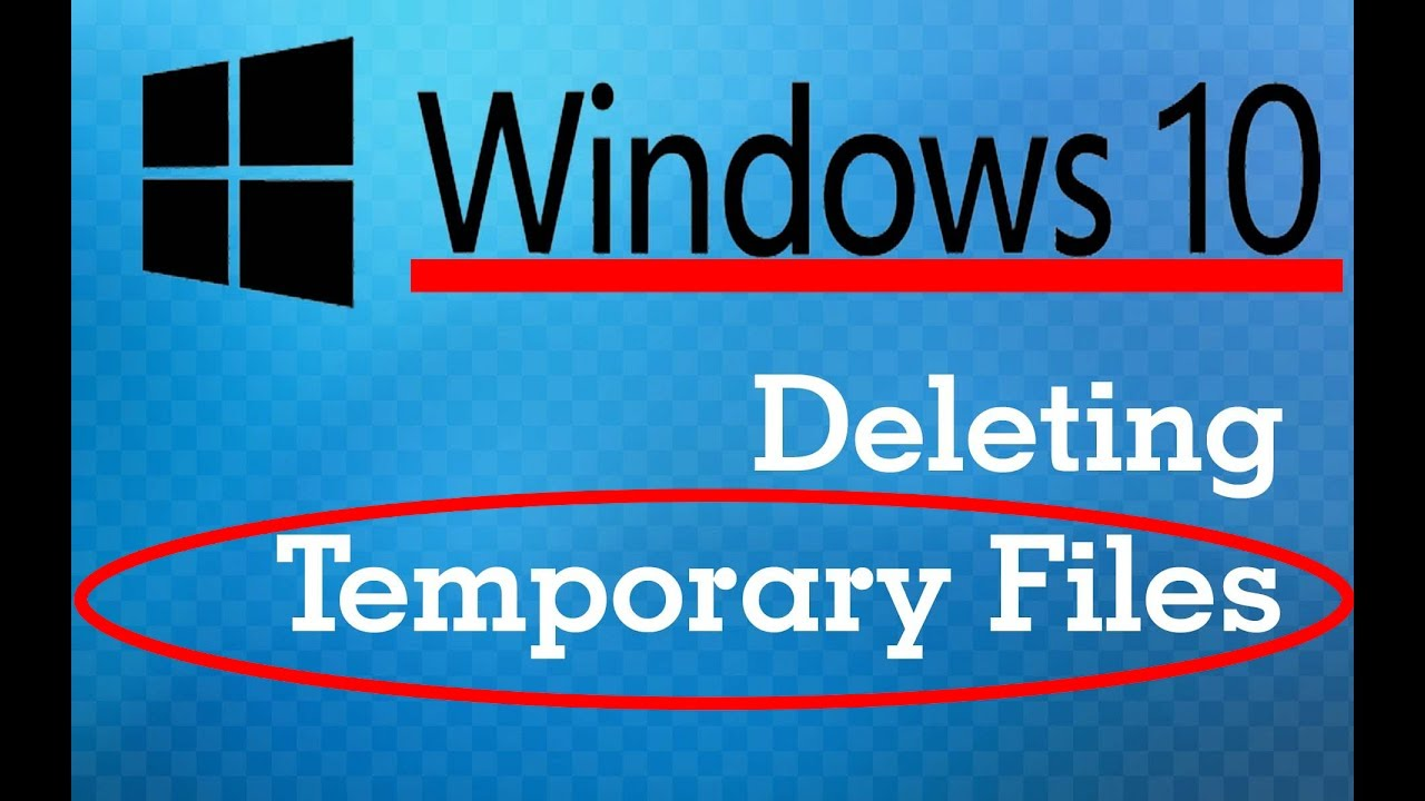 how to delete all the temporary files