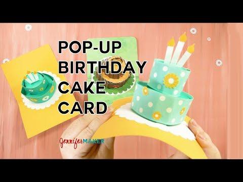 Pop-Up Birthday Cake Card Tutorial