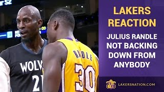 Kobe Bryant, Lakers React To Julius Randle, Kevin Garnett Trash-Talk