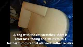 Cat Scratch Repair On Leather Furniture In St Louis, Mo