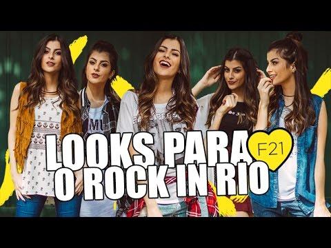 DICAS DE LOOKS ROCK IN RIO - FOREVER 21 #ForeverRocks
