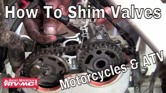 How To Adjust Valves On A Motorcycle Or ATV - Shim Type