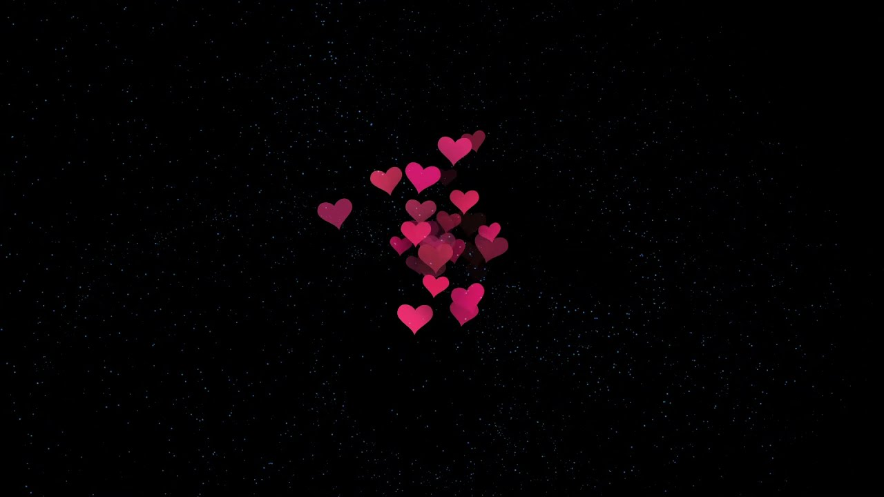 FLOATING HEARTS video overlay effect // FREE DOWNLOAD