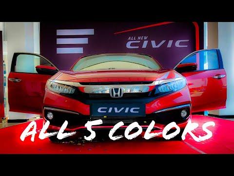 2019 Honda Civic All 5 Colors Quick Walk Around | eDrive |