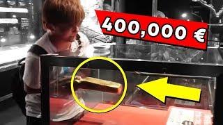 Questo ragazzo ha preso il lingotto d'oro da 400,000 €! 5 Persone che hanno battuto il sistema