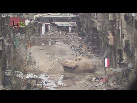 Cирийская БМП четко отработала по позициям боевиков